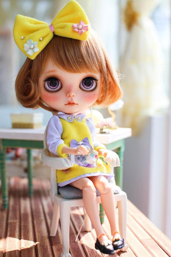 Juju'sBlythe outfit kindergarten-yellow por MidsummerCircus en Etsy