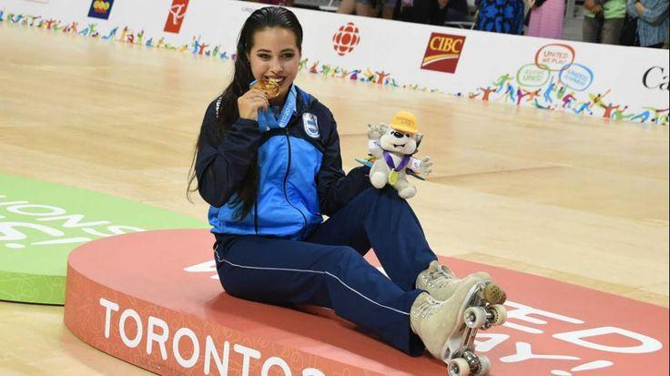 Argentina sumó el primer oro en Toronto 2015: Giselle Soler ganó en patín artístico