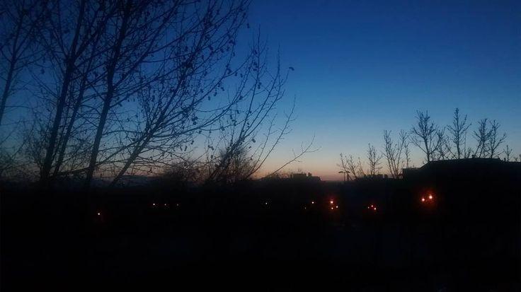 On instagram by criaturasolitaria #landscape #contratahotel (o) http://ift.tt/1UGxzUM días habitantes terrícolas. Empieza una nueva semana con su último amanecer con día bisiesto. #photo #fotografia #foto s  #paisajes #amaneceres #amanecer #pozuelodealarcon #madrid #spain #españa