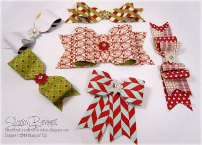 scrapbooking tutorial bows with envelope punch board ♥