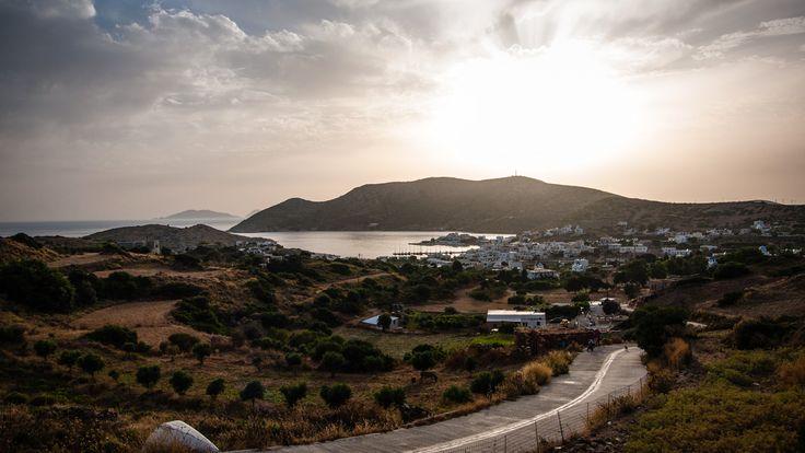 Lipsi - vue soleil couchant - Hellenica - Découvrez les iles grecques et organisez votre voyage