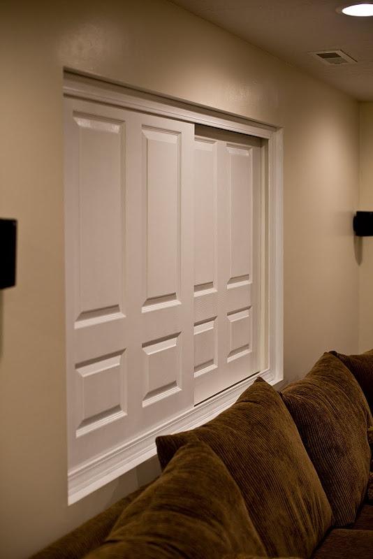 Sliding Doors As Blinds In Basement Windows Genius