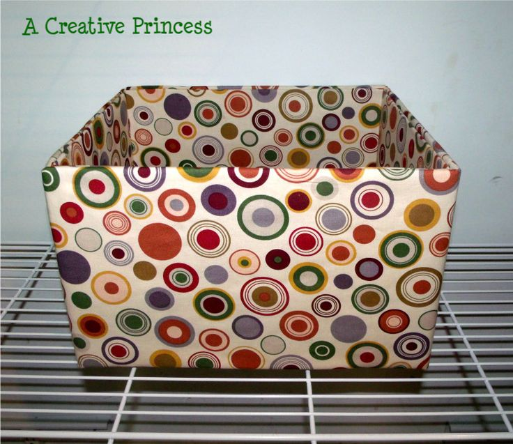fabric covered box tutorial.   I would have never thought to use batting ... brilliant!