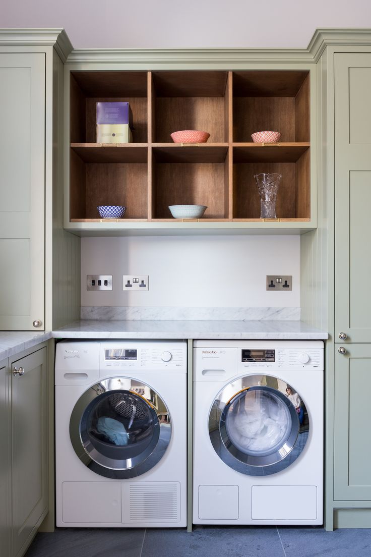 Utility room. Clever space for washing machines.