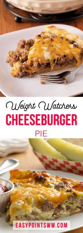 Weight Watchers Cheeseburger Pie ♥