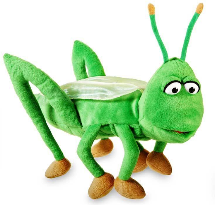 PuppetU.com - Silly Puppets Grasshopper 16 inch, $23.99 (http://store.puppetu.com/silly-puppets-grasshopper-16-inch/)