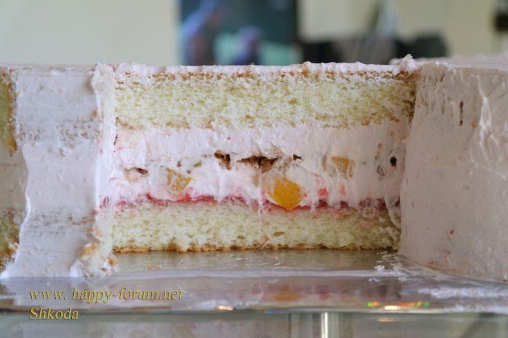 """торт черепаха - Сливочно-йогуртовый торт """"Популярный"""""""