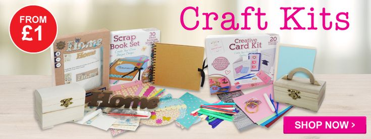 Craft Kits - loads of art and craft kits and bundles to help you craft for less! Pick up a bargain today. Really cute accessories.