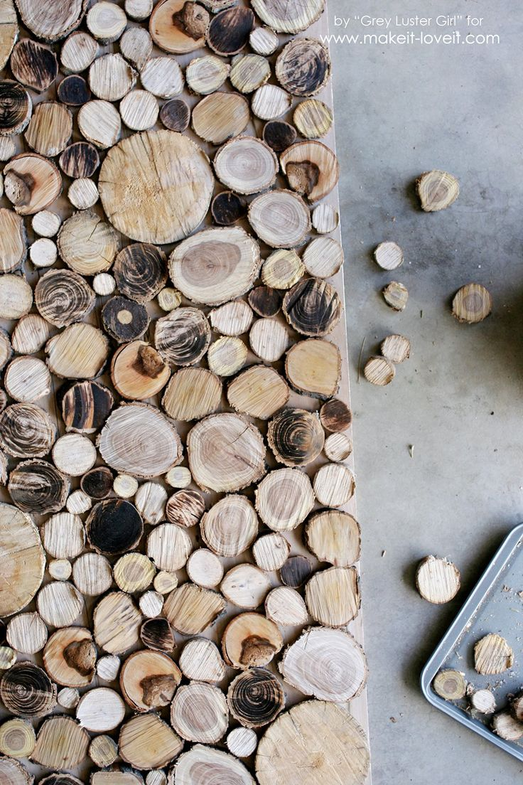 How to Make Your Own Wood Slice Backdrop   Make It and Love It