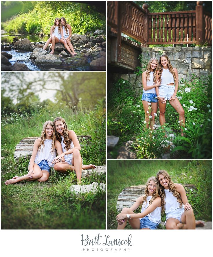 Garden Senior Pictures with Sister by Britt Lanicek Photography | BFF senior pictures | Best friends senior pictures | Sisters senior picture ideas | http://www.brittlanicekphotography.com