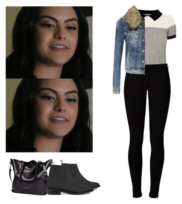 """""""Veronica Lodge school appropriate outfit - Riverdale"""" by shadyannon ❤ liked on Polyvore featuring Oasis, Opening Ceremony, Vero Moda and ONLY"""