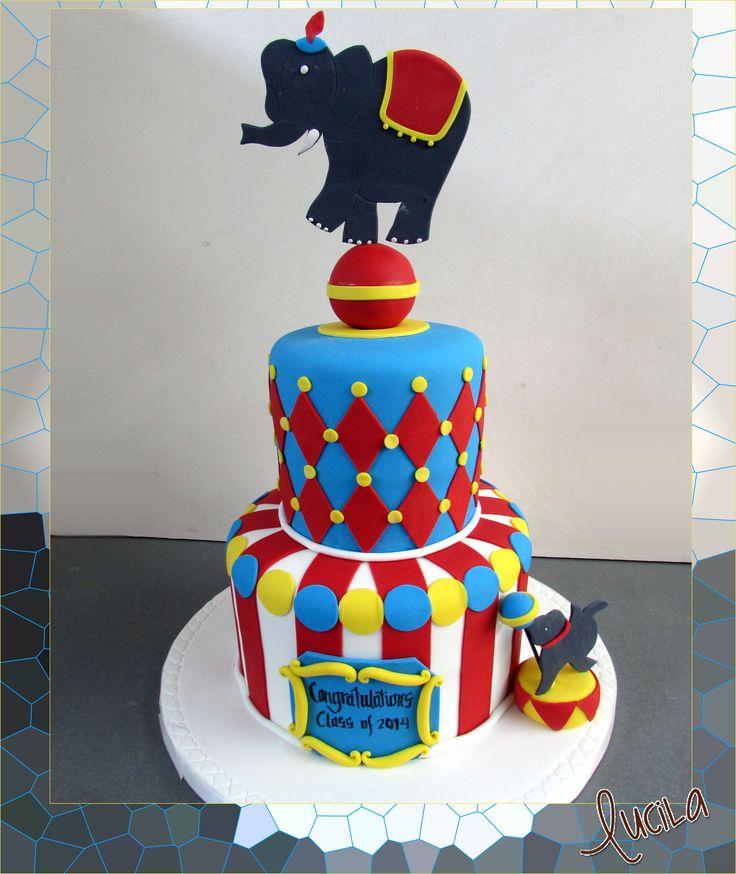 Circus themed fondant cake.