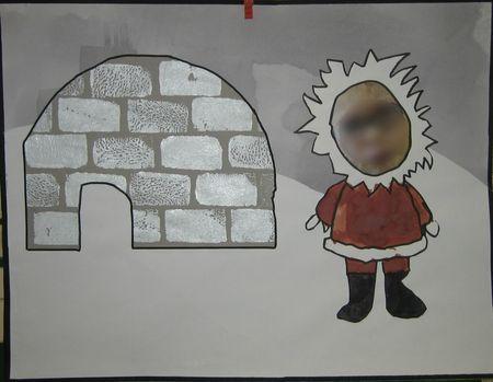 esquimau et son igloo