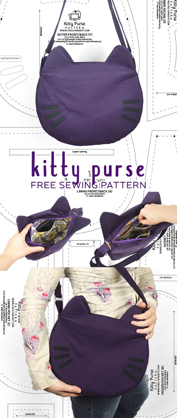 Sewing Tutorial – Kitty Purse by SewDesuNe – Sale! Up to 75% OFF! Shop at Stylizio for women's and men's designer handbags, luxury sunglasses, watches, jewelry, purses, wallets, clothes, underwear