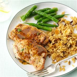 """DIJON PORK MEDALLIONS RECIPE: ~ From: """"TASTE OF HOME.COM"""" ~ Recipe Courtesy Of: """"JOYCE MOYNIHAN"""" of Lakeville, Minnesota. ~ Total Prep.Time: 20 min; Level: easy; Yield: (4 servings). *** My husband loves anything with Dijon mustard, so this is a fast and easy way for us to prepare pork. It's a favorite in our home."""