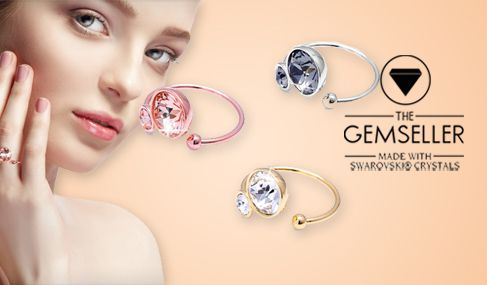 Ξεχωριστά κοσμήματα Gemseller με swarovski elements για μοναδικές εμφανίσεις με Έκπτωση έως -90% ✔