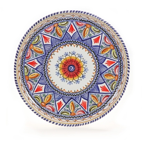 Daisy Center Spanish Majolica Decorative Plate