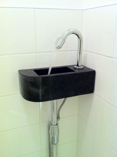 Betonnen toilet fontein maatwerk - Solidus Meubelen