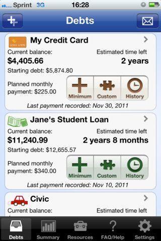 how to get help debt statement