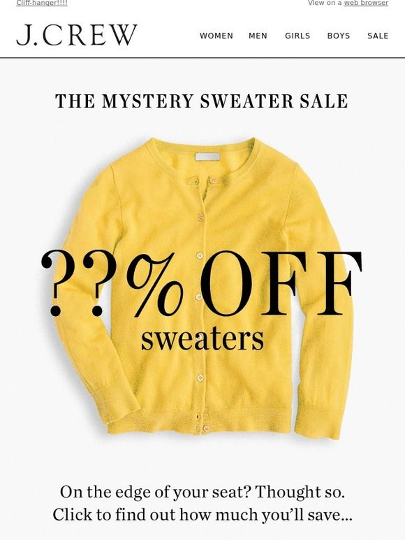 A winter sweater mystery sale - J.Crew