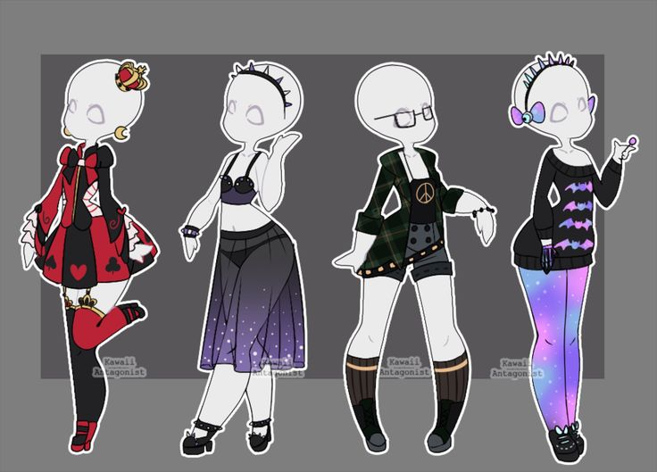 Gacha Outfits 24 By Kawaii Antagonist Deviantart Com On