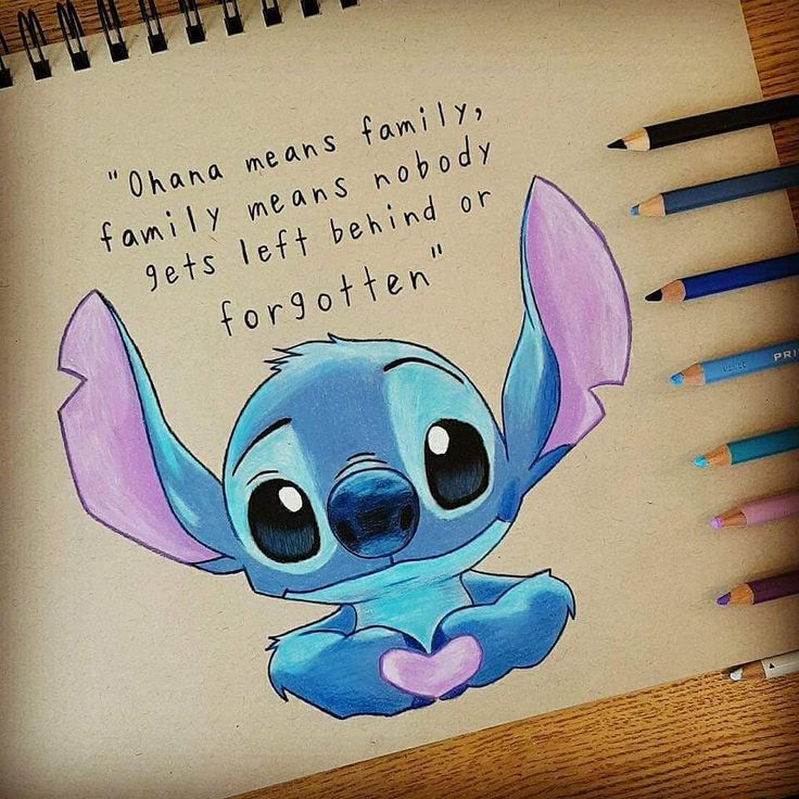 Ohana 💙 _________________________________ #stitch #disney #ohana #disneyfan #disneyfanart #quotes #family #drawing #pencildrawing…