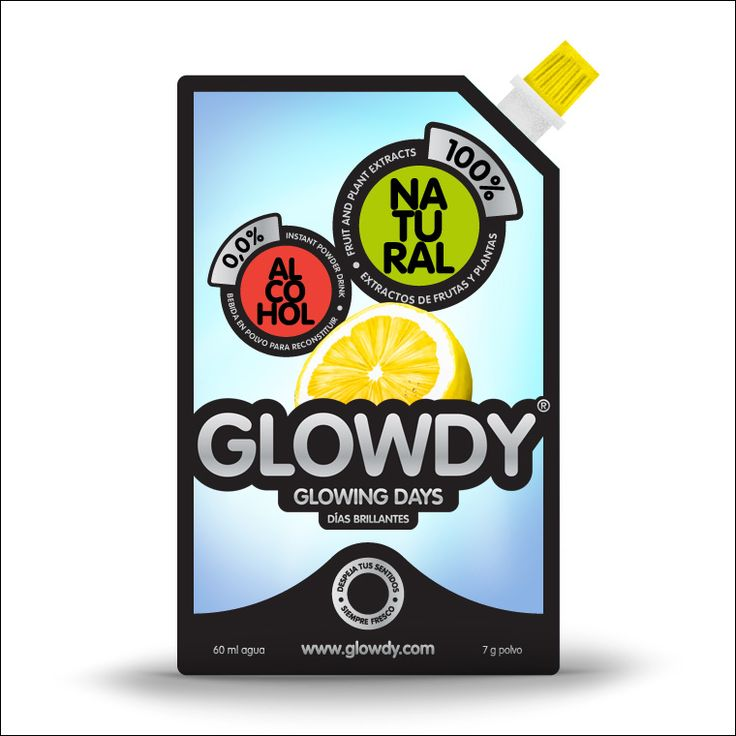 Glowdy, glowing days    Glowdy es un proyecto que abarca naming, identidad corporativa, packaging y web. El discurso de glowdy versa sobre la sensación de sentirse brillante y despejado, y sobre la naturalidad del propio producto.  Usamos elementos metálicos que reflejan y brillan, glowing days. Y asociamos a la seguridad vial con el juego cromático que usan los semáforos.