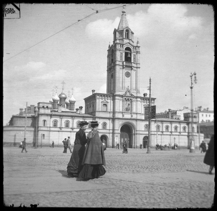Страстная (Пушкинская) площадь, Страстной Девичий монастырь. 1912 год