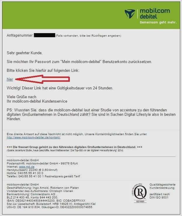 Mobilcom Debitel Online Kundigen Geprufte Vorlage