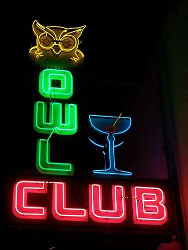 Neon Signs... Owl Club