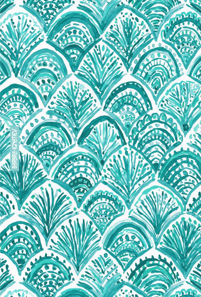 AQUA LIKE A MERMAID Barbarian print | Click through to shop this print and download a phone wallpaper. | #mermaid #nautical #aqua