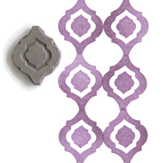 Elegant Moroccan Pattern Rubber Stamp - Cling Rubber Stamp