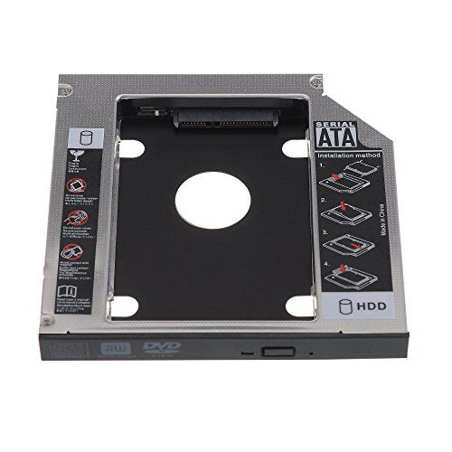 From 7.39:VicTsing Universal 12.7mm SATA 2nd HDD HD Hard Drive Caddy Case for Laptop CD / DVD-ROM Optical Bay