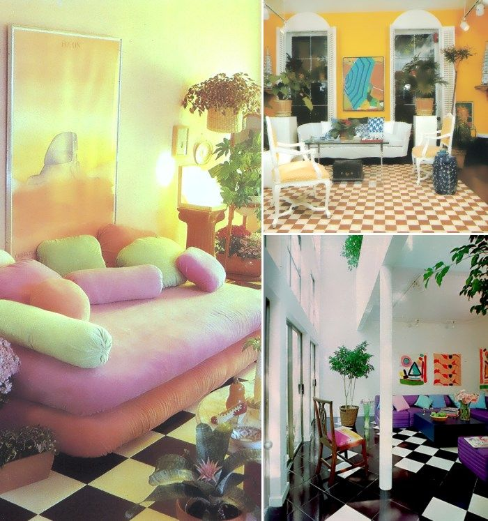 80s Checkered Floor Inspiration 1980s Interior Design