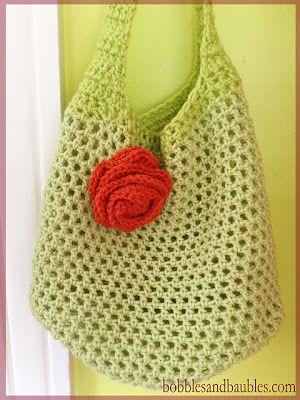free crochet market bag pattern