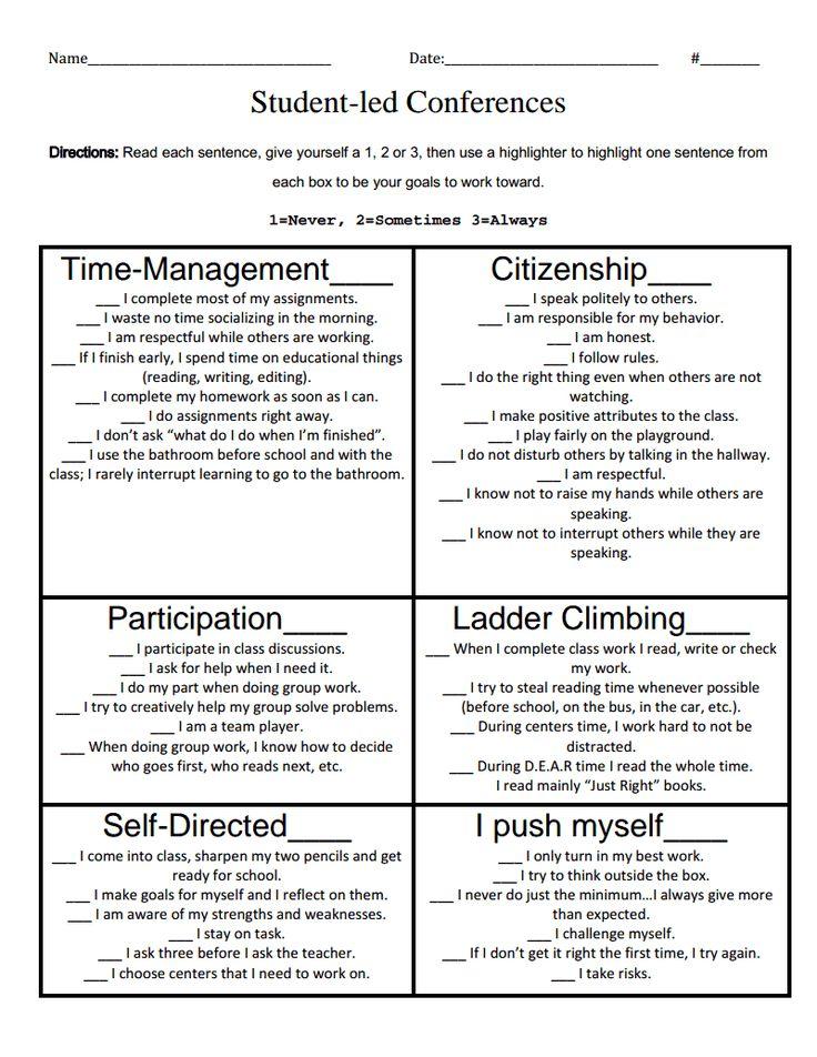 Best  Student Self Assessment Ideas On   Student Self
