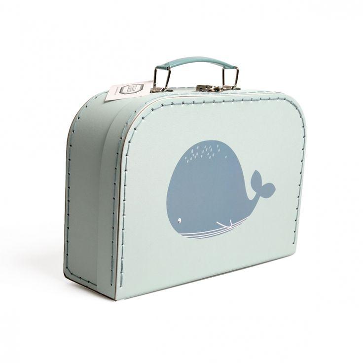 Koffertje, groot, celadon van dille en kamille super cute en handig om mee te gaan logeren