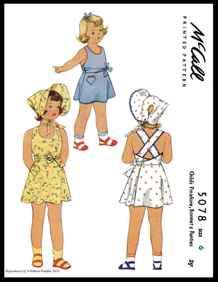 Prendisole Playsuit BONNET Frock tessuto da cucire modello McCall n. 5078 RAGAZZA abito bambino BAMBINI cappello sz -6-Sun Suit giocare Abito pagliaccetto 1940 di APATTERNPEDDLER su Etsy https://www.etsy.com/it/listing/496687679/prendisole-playsuit-bonnet-frock-tessuto