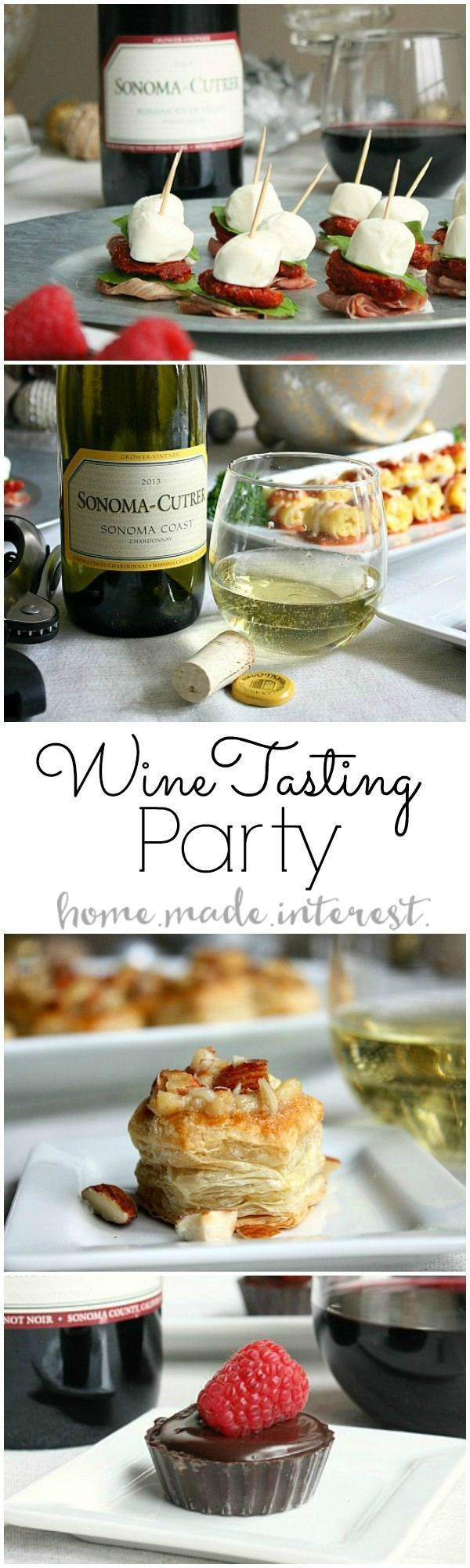 Our Wine Tasting Party was all about trying new foods and tasting new wines. We had so much fun coming up with new recipes to pair with Sonoma Cutrer wines and our guests left happy! AD