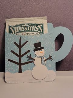 @Kristi Kildoo Kristi - I just made a mug in the Craft Room - I can cut some out for Card Day, if you want.   Cricut Hot Chocolate Mug Card. Gypsy Wanderings and George Cartridges.  *