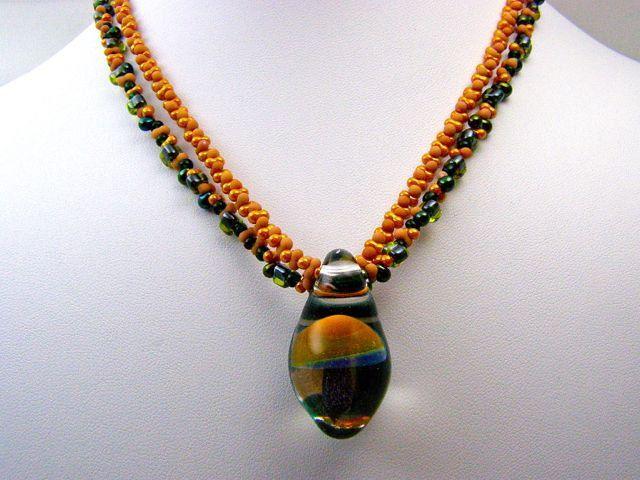 ON SALE Women's Beaded Necklace,Women's Necklace,Necklaces,Black and Camel Beaded Necklace,Pendant Necklace,Handmade Pendant,Beaded Necklace - $42.00 USD