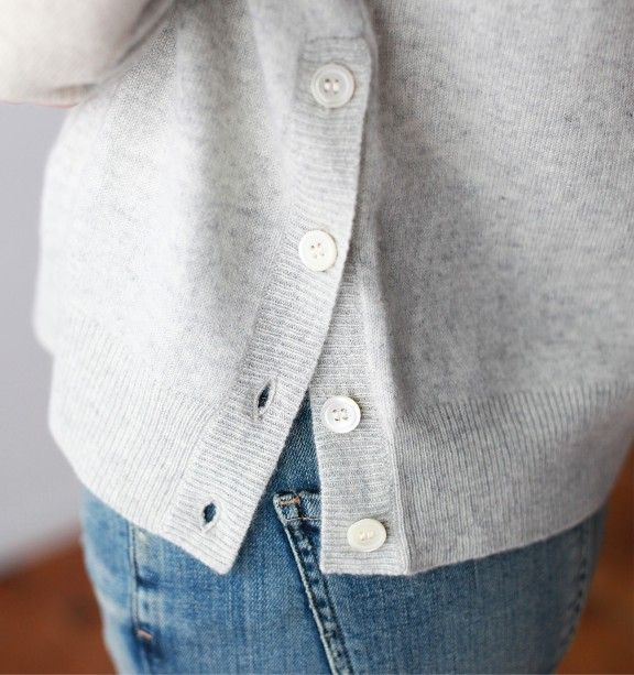Cashmere Sweater in Baby Heather Grey - Clothing - The Collections - Mavenhaus Collective