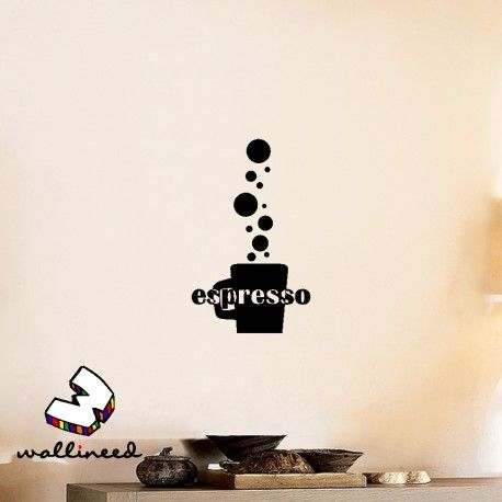 Espresso Wall Decal Kitchen Decor Home Decor #coffee  wallineed.com