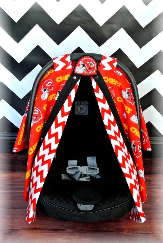 Kansas City CHIEFS Car Seat Canopy By JaydenandOlivia
