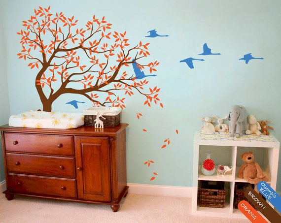 Cheap Baby Nursery Tree, Buy Quality Wall Mural Directly From China  Children Room Suppliers: Baby Nursery Tree Wall Decal Swans Decal Sticker Wall  Mural ... Part 87