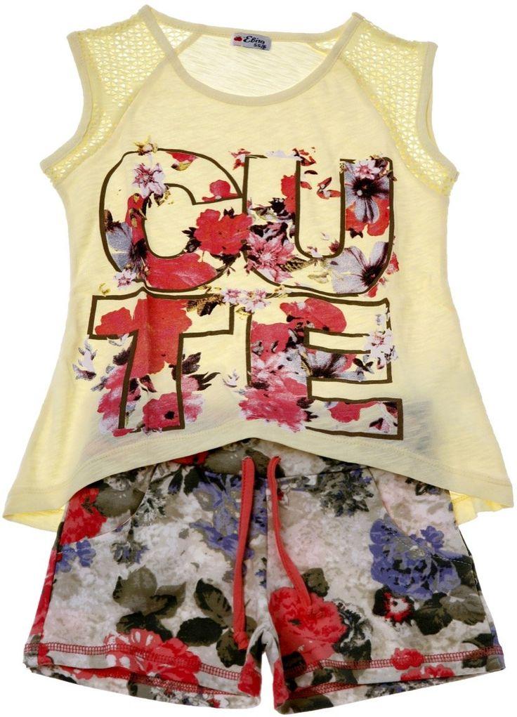 Εβίτα παιδικό σετ μπλούζα-παντελόνι σορτς «Cute» - Παιδικά ρούχα AZshop.gr