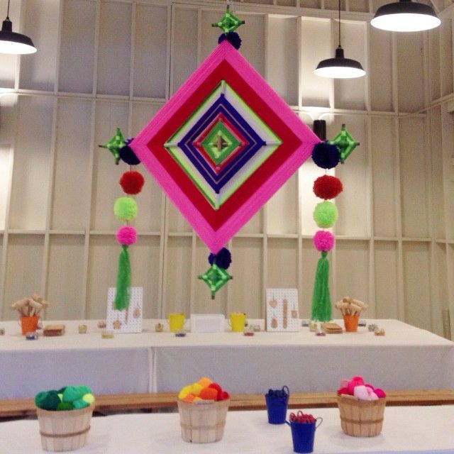 Giant Ojo de Dios at Crafting Community's Handmade Holiday event at Lombardi House in Los Angeles