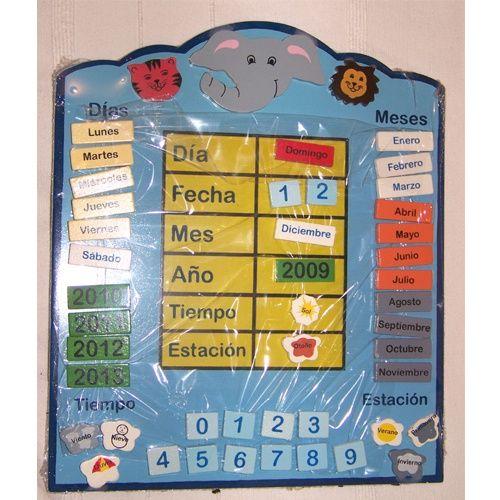Con este calendario podemos trabajar con los niños/as la medición del tiempo y la duración temporal