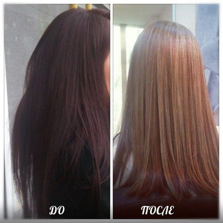 Осветление темных волос в домашних условиях
