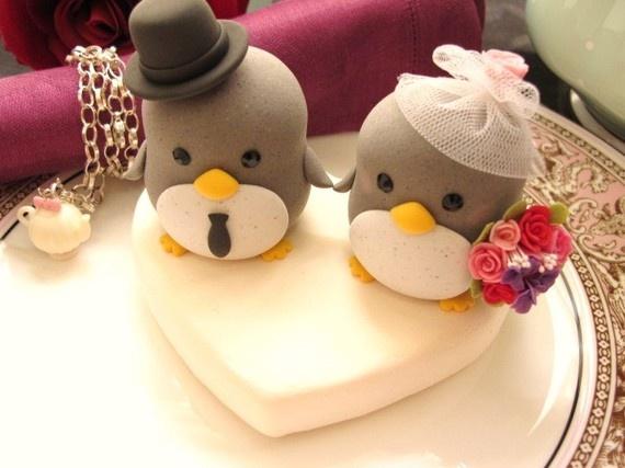 Custom penguin cake toppers soooo cute!!!
